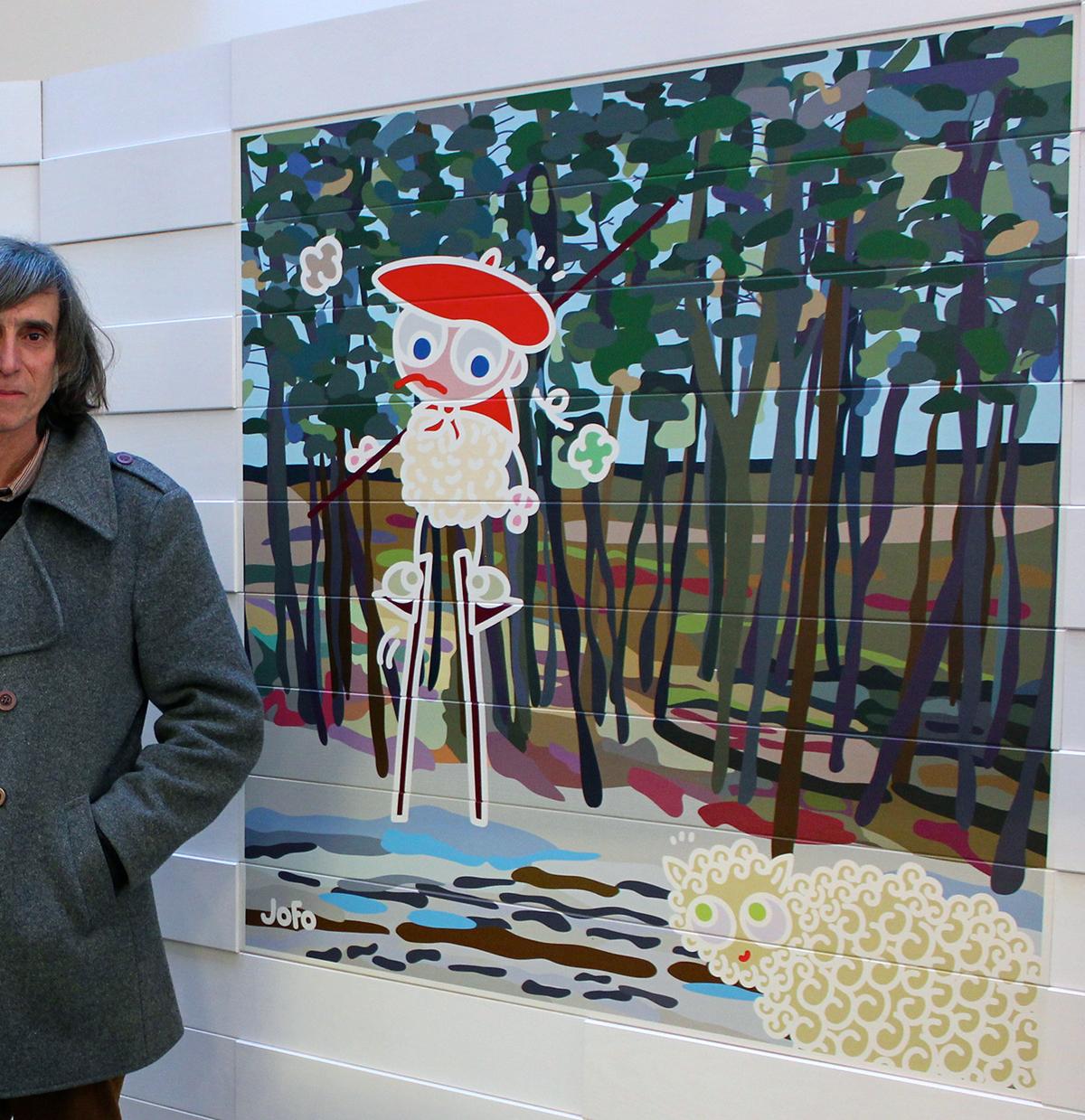 Impression/parement bois. 1,20m x 1,20m. En vente sur http://www.imberty-jofo.com/