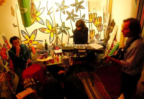 Zabou en répétition dans l'atelier de charles à Marseille