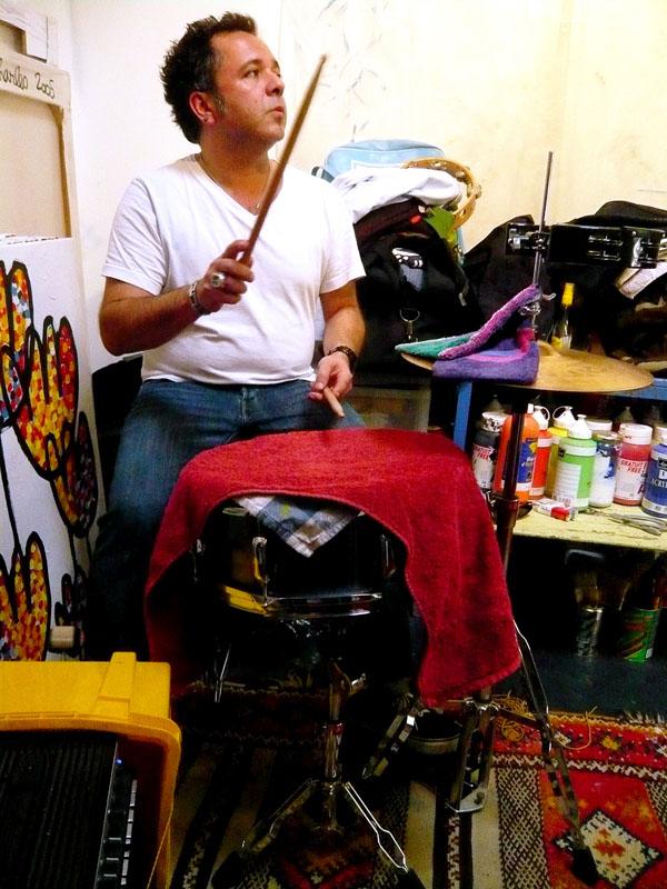 Richie dans l'atelier de charles à Marseille