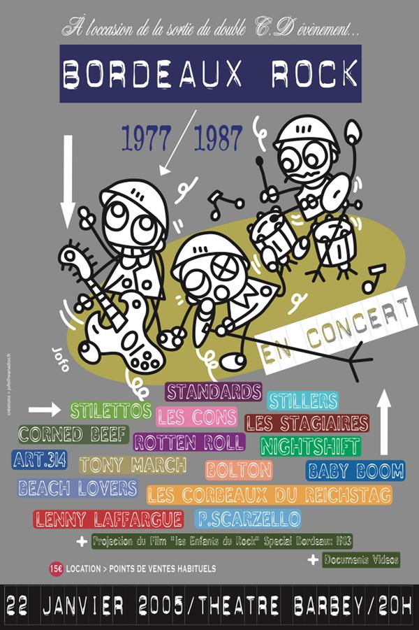 Affiche. Commande de Bordeaux Rock. 2005