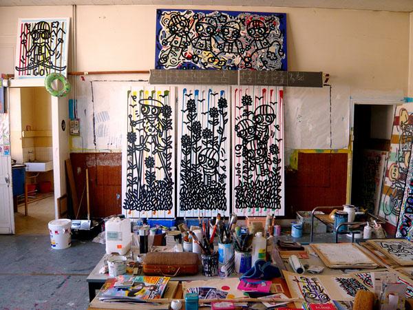 Vue de l'atelier à St Pierre