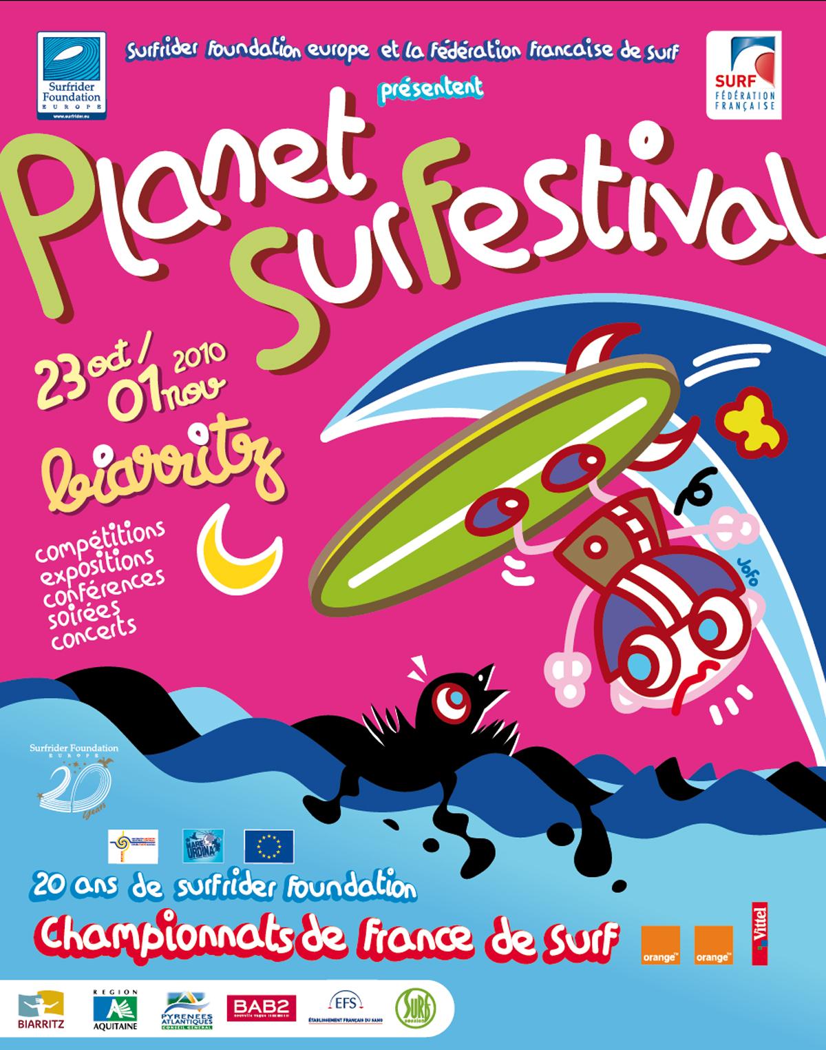 Affiche. Commande de la Fédération Française de Surf et Surfrider Foundation. 2010.