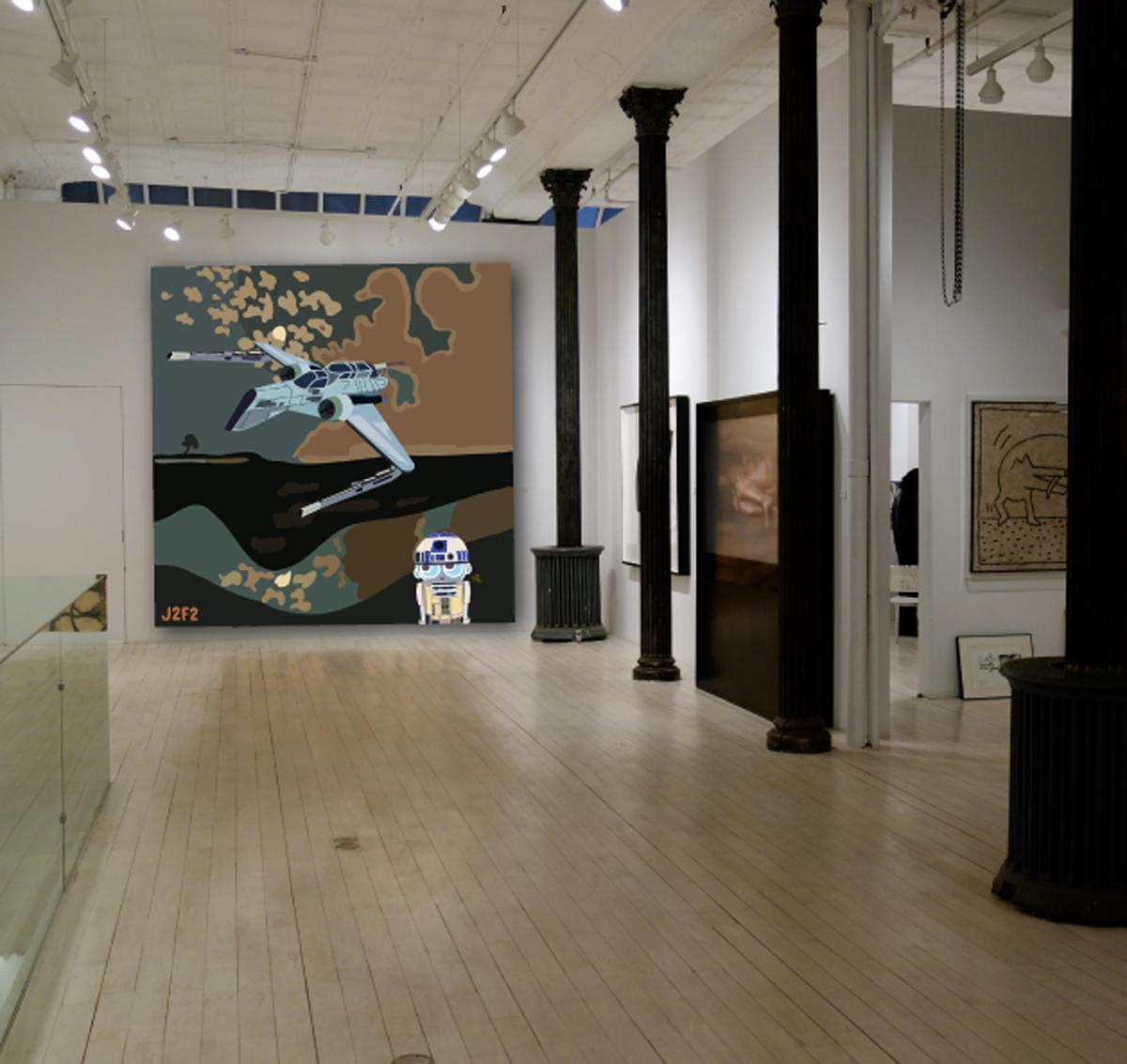 Existe en impression numérique sur Plexiglas - 2,00m x 2,00m - Tirage unique. ou Digigraphie unique /toile - 1,30m x 1,30m