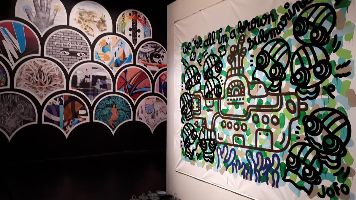 LIVE Painting, Base Sous-marine, dans le cadres de l'expo