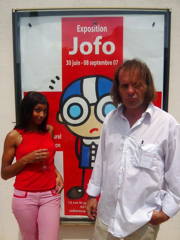 Zabou et charles avant le concert-expo de Coutras