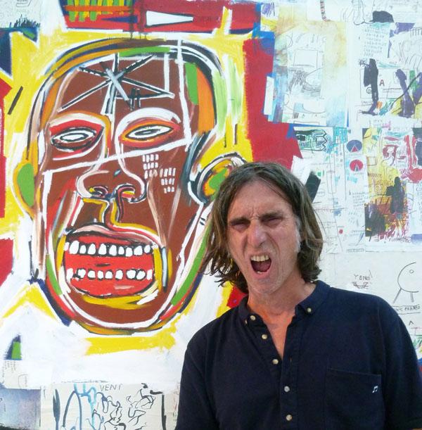 Devant un Basquiat...