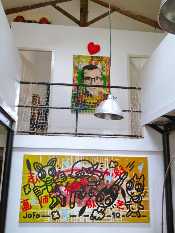 Keith Haring par ALBEN en haut