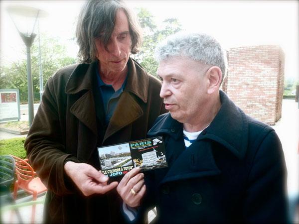 avec Robert Combas au MAC de Lyon