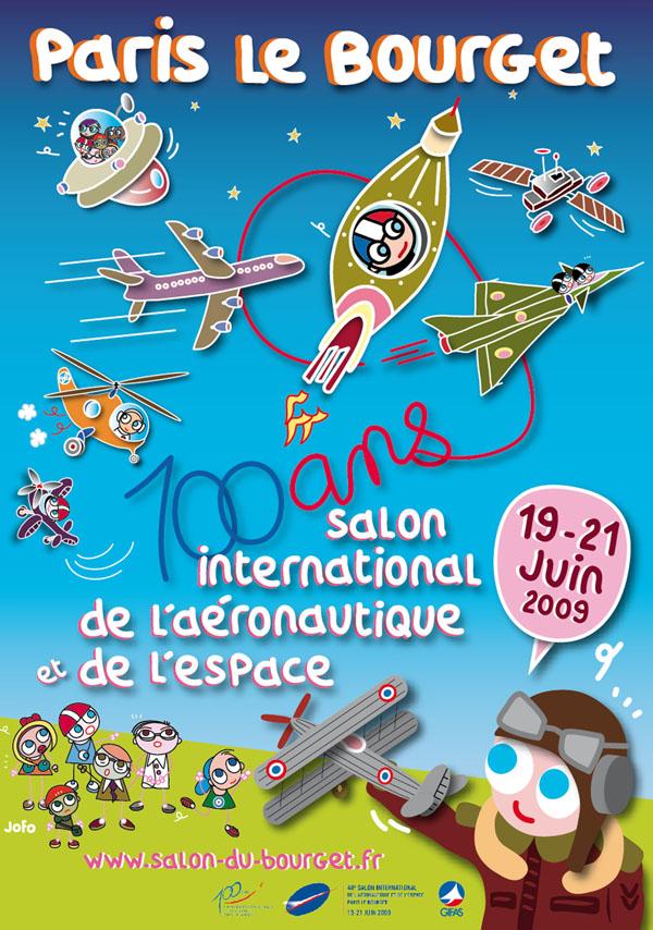 Lauréat du concours du visuel officiel des 100 ans du Salon International de l'Aéronautique et de l'Espace du Bourget - Paris. 2009. (Agence PEMA 2M)