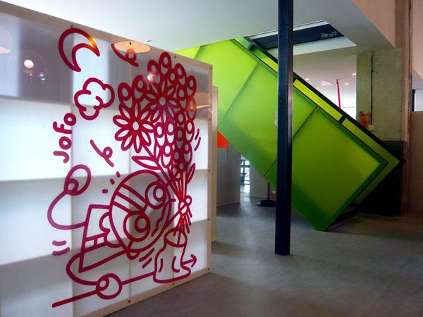 Paravent étagères. Commandes de Bouygues Immobilier. Architecte : Marie Buhler.