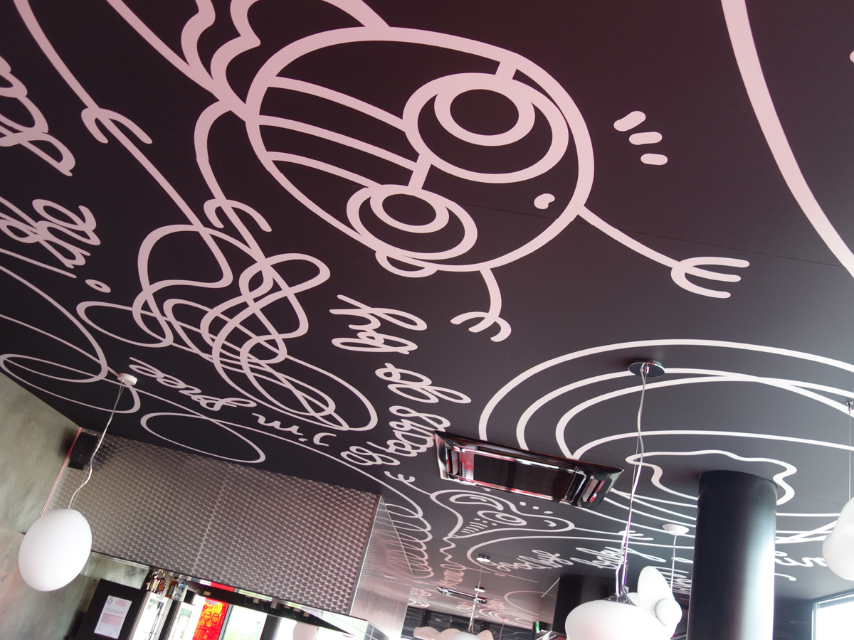 Plafond tendu. Restaurant