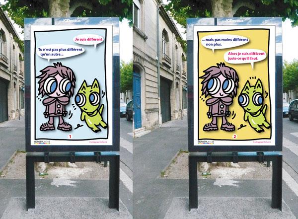 Collaboration avec Éric Corbeyran (scénariste de BD). Projet de double affiche  pour Bordeaux 2013, Capitale Européenne de la Culture. 2011