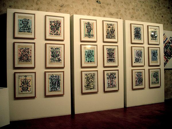 Vue de l'exposition à la Mauvaise Réputation, Bordeaux