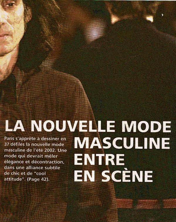 truc irréel... couv d'un mag de mode, 2001.