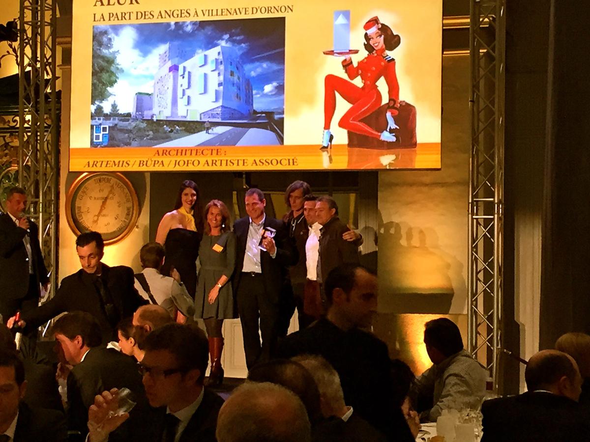 Grand prix régional Pyramide d'argent. Artiste associé à BUPA Architectures pour