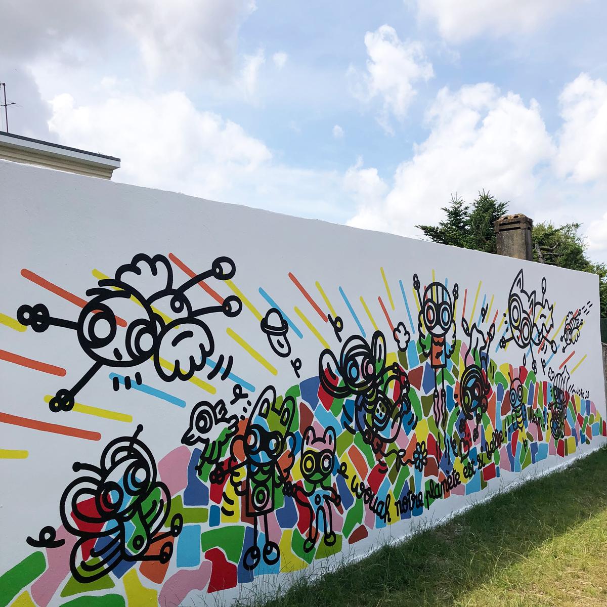 Mur de l'école maternelle Gambetta - Cenon (33)